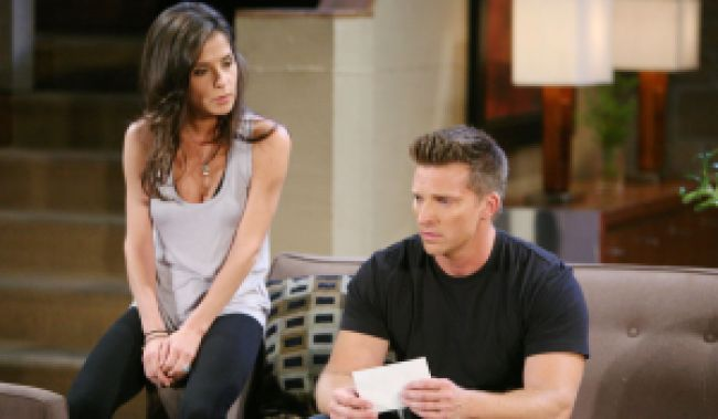 "Steve Burton, Kelly Monaco ""General Hospital"" Set The Prospect Studios ABC Studios Los Angeles 06/15/11 ©Howard Wise/jpistudios.com 310-657-9661 Episode # 12355 U.S.Airdate 07/26/11"