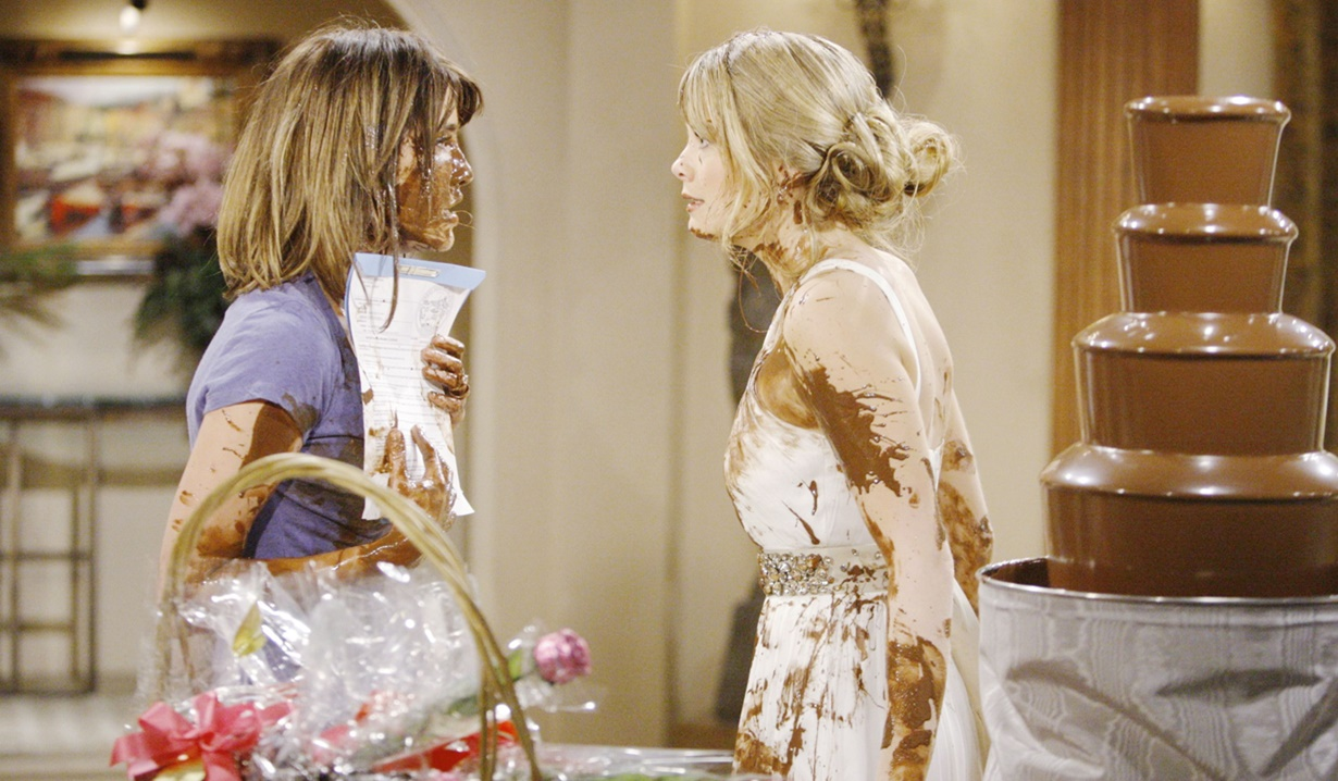 Steffy, Hope chocolate fight B&B