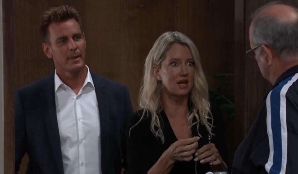 Jax and Nina question the jeweler in Brooklyn General Hospital
