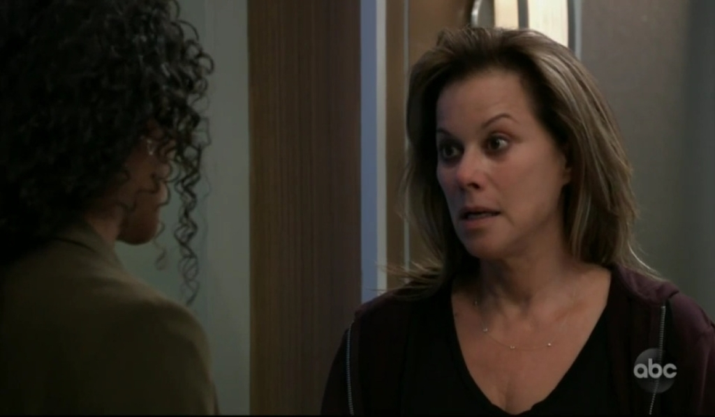 Jordan and Alexis discuss Neil's death at General Hospital