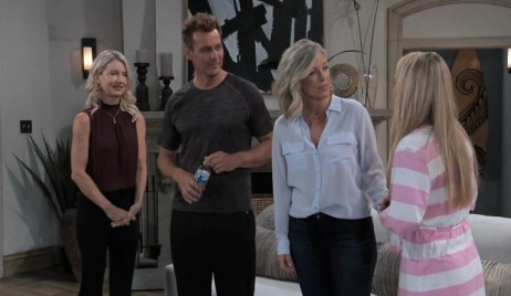 Jax, Nina, and Carly with Joss at Jax's place General Hospital