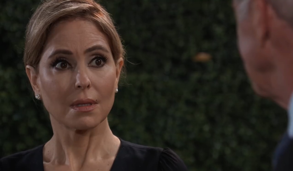 Robert and Olivia talk Holly in England General Hospital