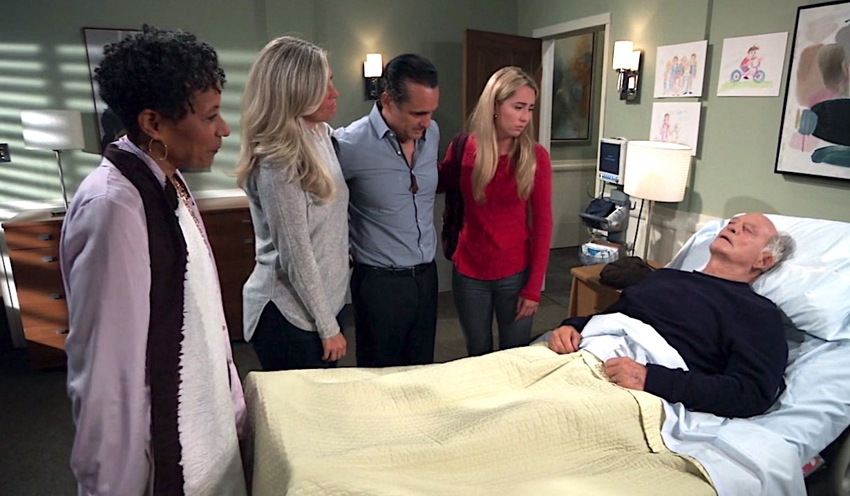 General Hospital Stella Sonny Joss Carly Saying Goodbye Mike