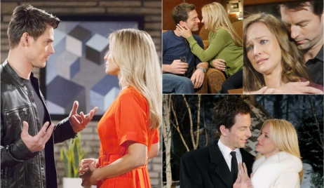 Sharon, Adam collage Y&R