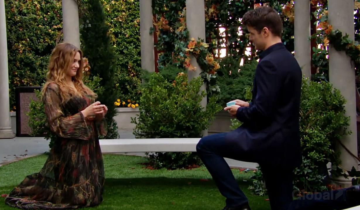 Summer, Kyle kneel propose Y&R