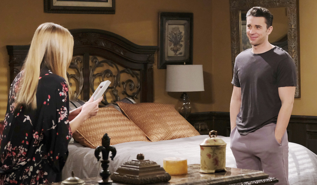 Abby and Chad at home in bedroom on Days of our Lives