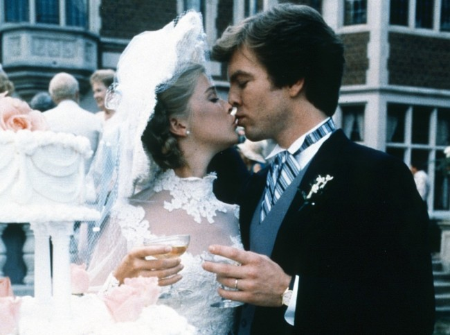 ALL MY CHILDREN, AMC Cliff Nina wedding: Taylor Miller, Peter Bergman, 1994, 1970-2011. /ph: Steve Fenn/© American Broadcasting Company /Courtesy Everett Collection