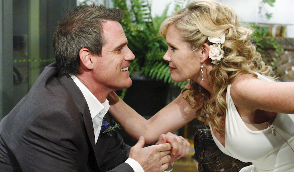 Maura West, Michael Park as Carly and Jack As the World Turns wedding