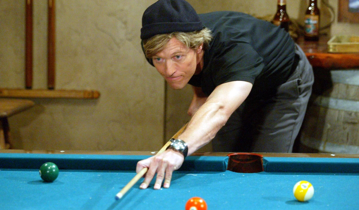 "Jack Wagner ""The Bold and the Beautiful"" nick plays pool sailor hat"