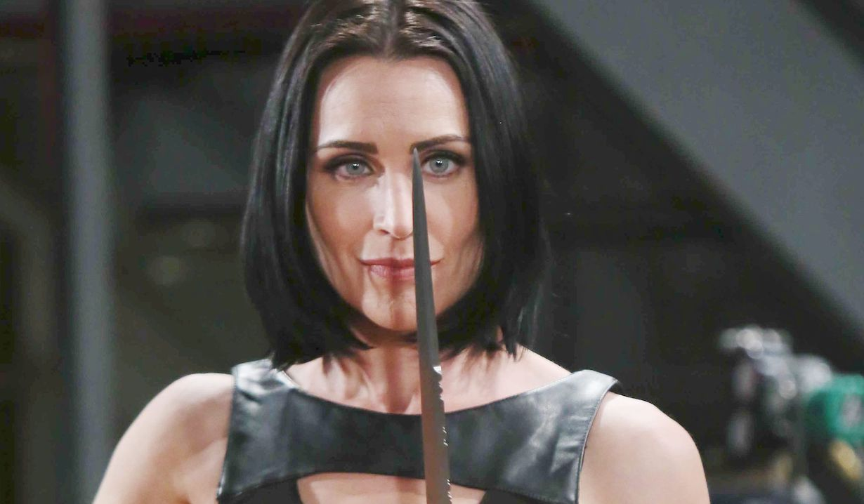"Rena Sofer ""The Bold and the Beautiful"" quinn knife dagger"