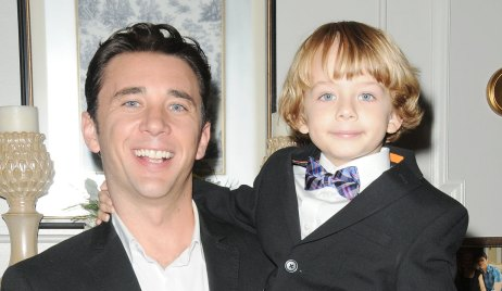 Billy Flynn and Asher Morrissette on set of Days of our Lives