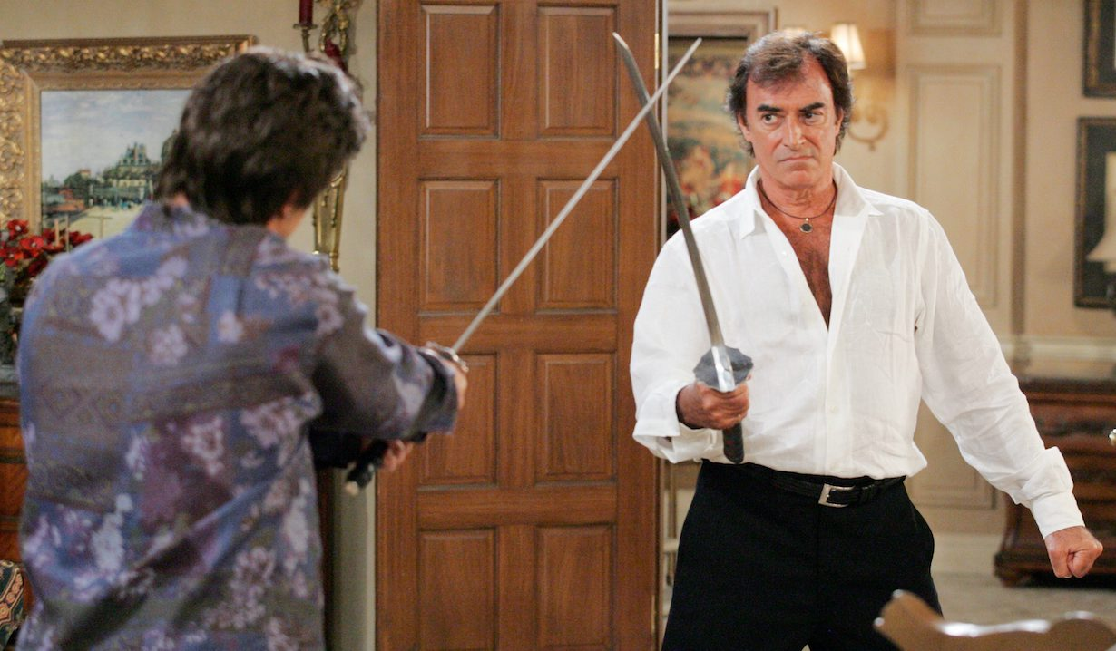Thaao Penghlis days our lives andre tony sword fight