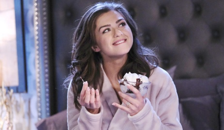 days of our lives victoria konefal ciara eating ice cream
