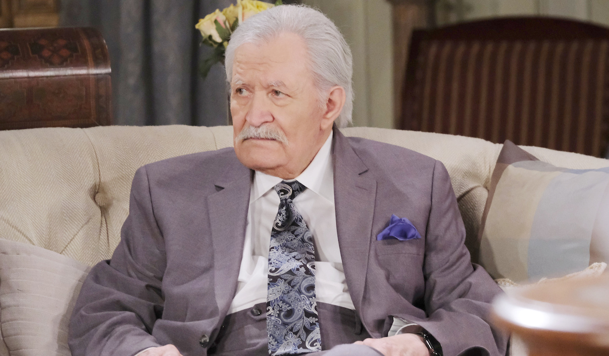 days of our lives John Aniston as victor sitting suit