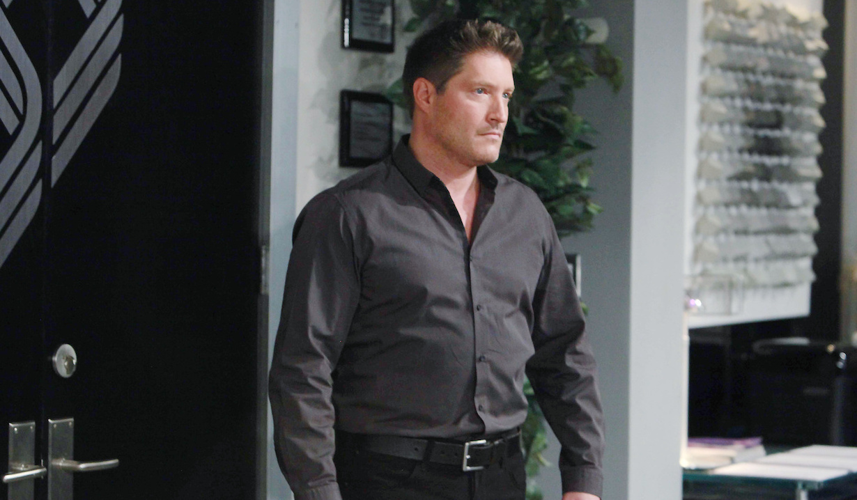 Deacon Sharpe in Bill Spencer's office on Bold and Beautiful