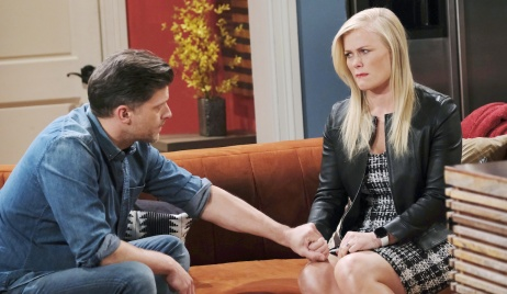 Eric says goodbye to Sami on Days of our Lives