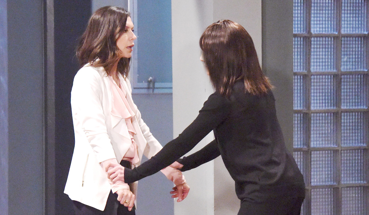 Finola Hughes anna alex general hospital fight