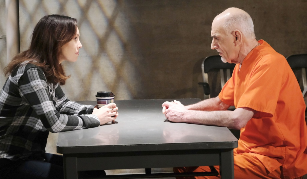 Gwen visits Rolf in prison on Days of our Lives