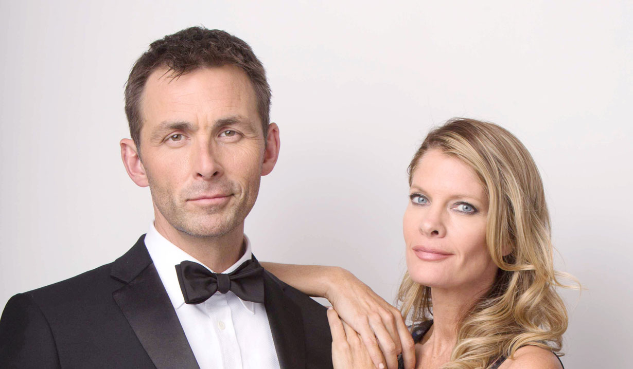 James Patrick Stuart and Michelle Stafford Valentin and Nina GH