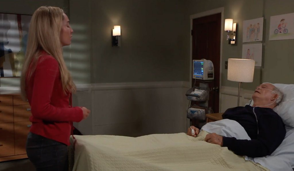 Joss says goodbye to Mike on General Hospital