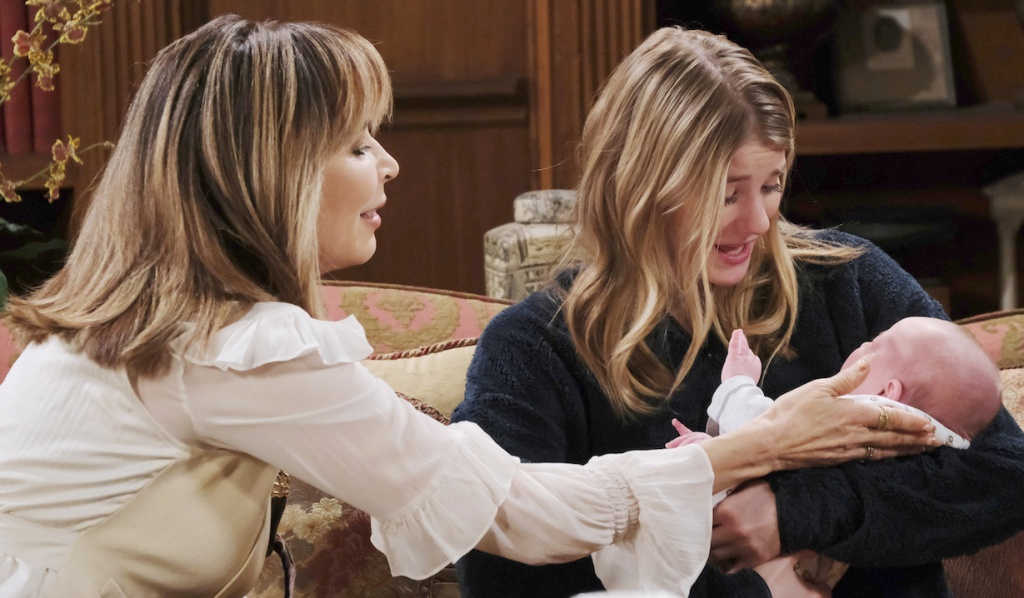 Kate helps Allie bond with her baby on Days of our Lives