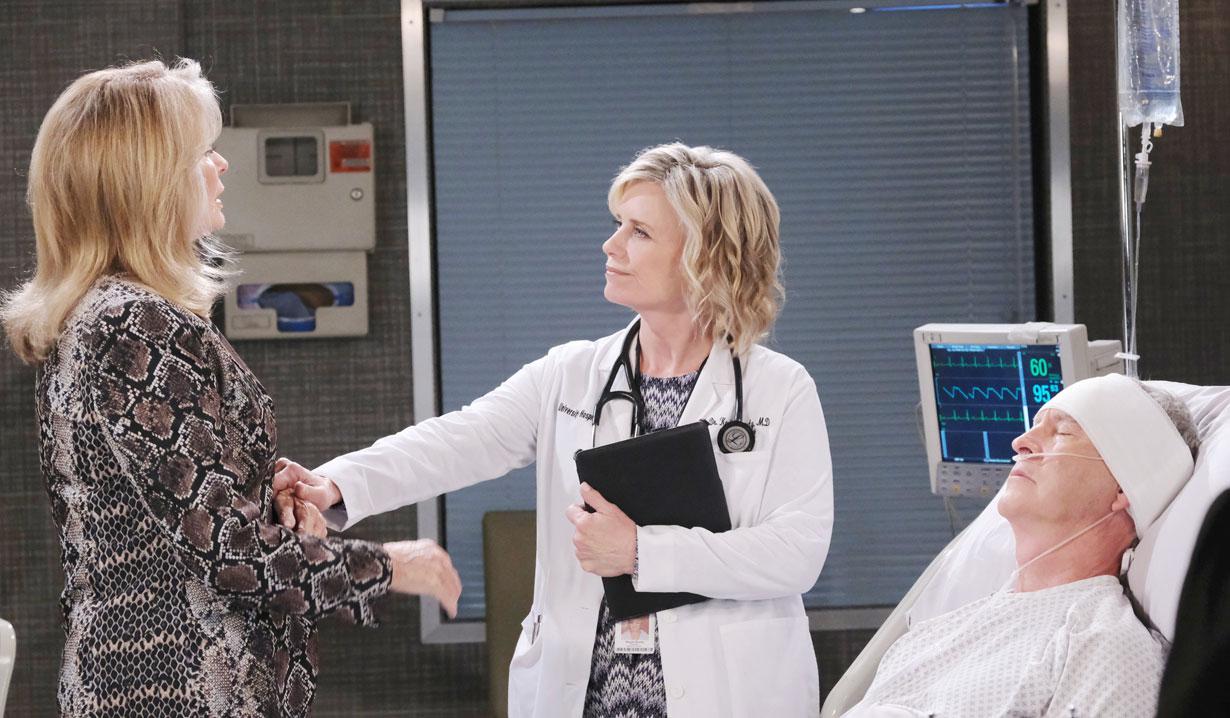 Kayla gives Marlena news on Days