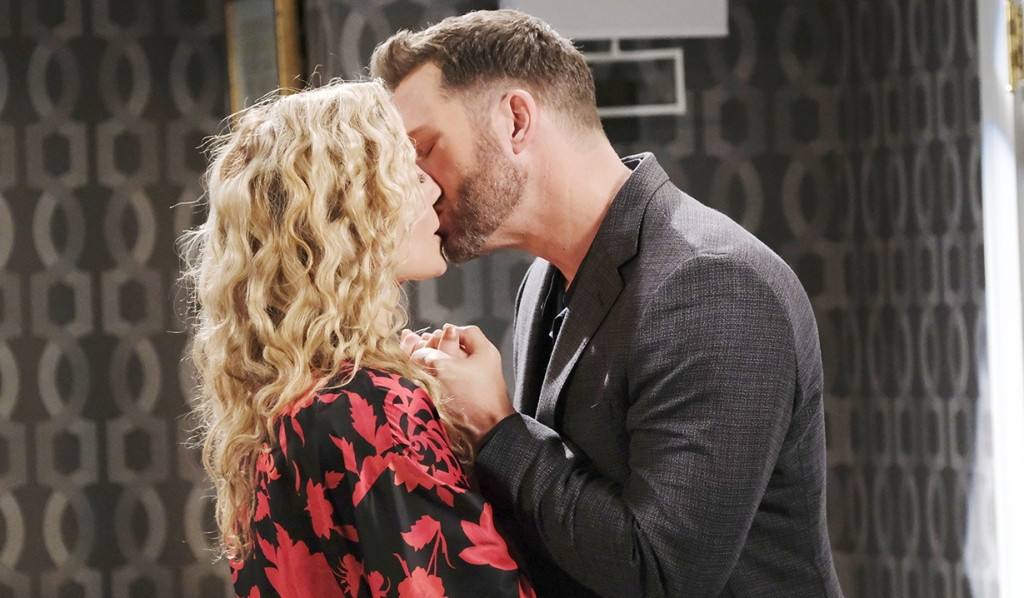 kristen and brady kiss and make up after arguing days of our lives