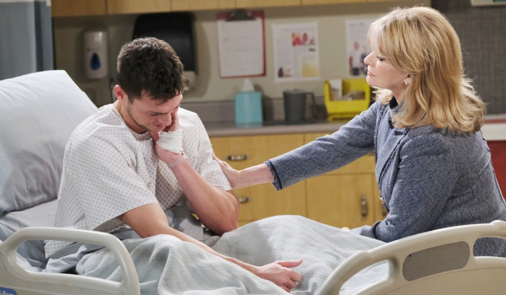 Marlena comforts Ben at hospital on Days of our Lives