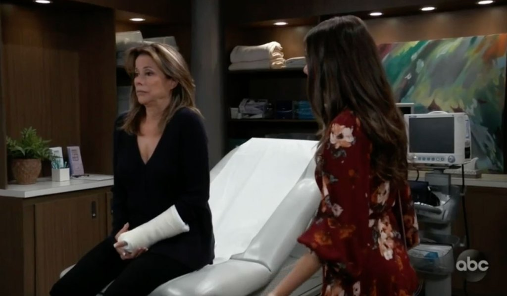 Alexis gets test results on GH