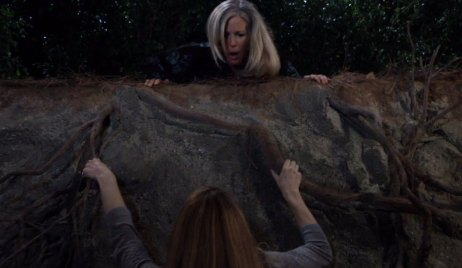 carly as nelle falls off cliff GH