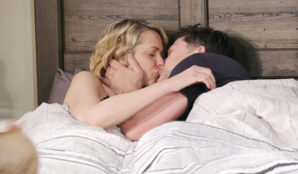 nicole and eric make love kiss in bed days of our lives