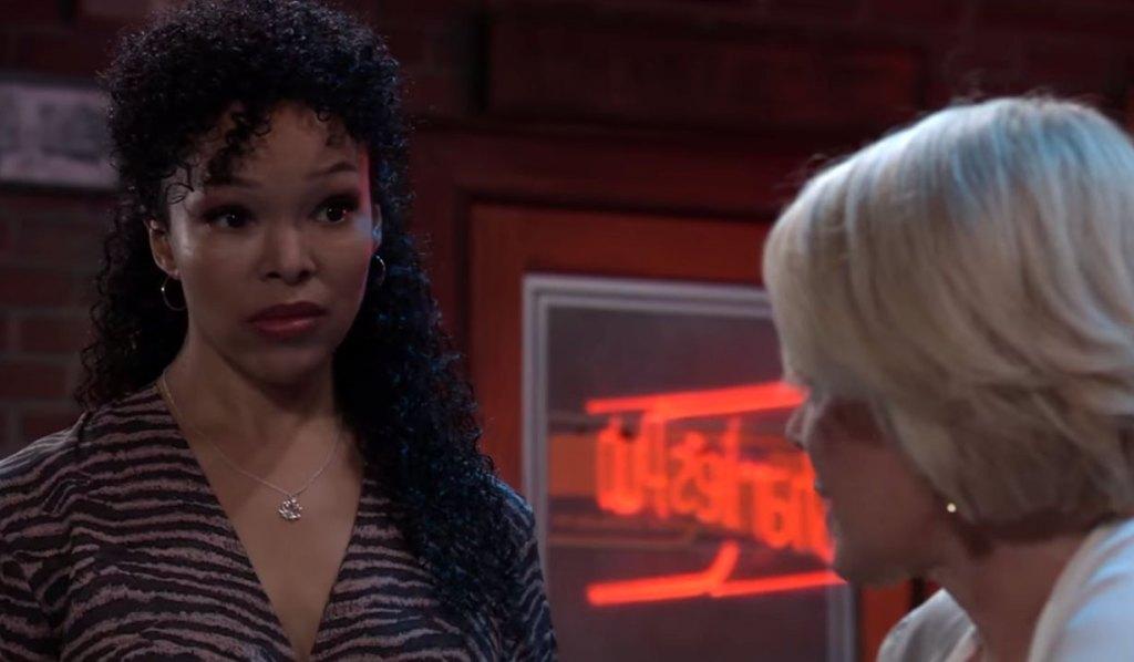 Portia talks with Ava about Trina on GH