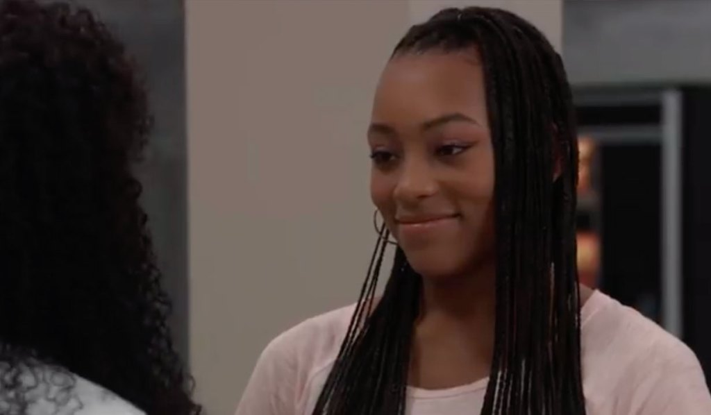 Portia is happy for Trina on General Hospital