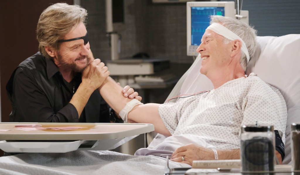 Steve visits John in the hospital on Days of our Lives