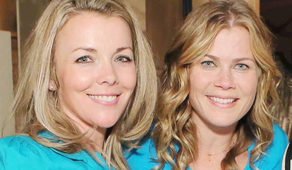 "Alison Sweeney,Christie Clark ""Days of our Lives"" hw"
