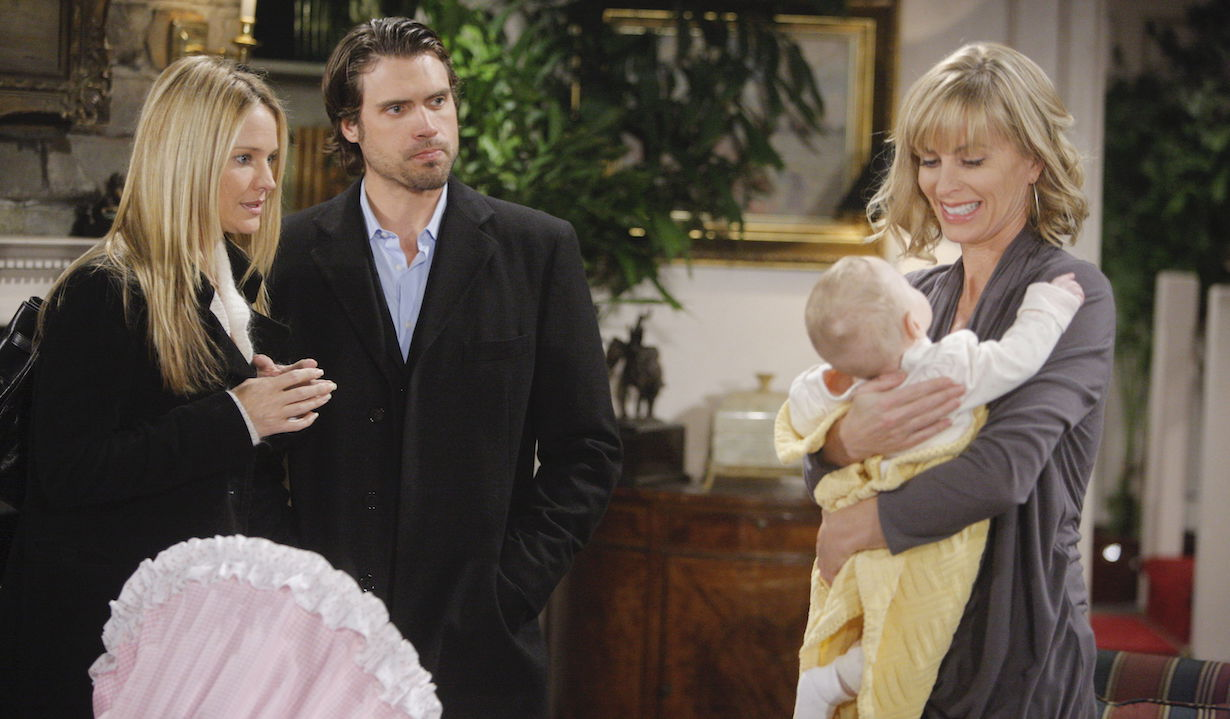 "yr ashley sharon nick faith Eileen Davidson, Sharon Case, Joshua Morrow""The Young and the Restless"" SetCBS television CityLos Angeles2/10/10©sean smith/jpistudios.com310-657-9661Episode # 9356U.S. Airdate 3/15/10"