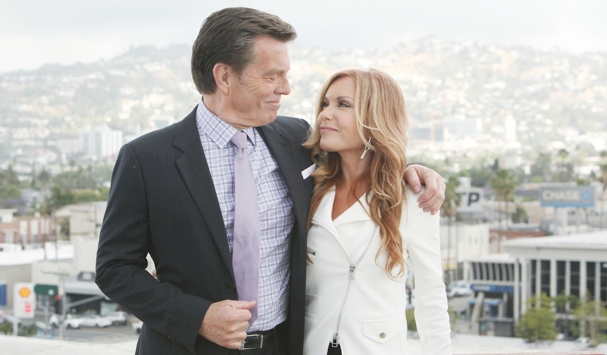 "Peter Bergman, Tracey Bregman The Young and the Restless"" jack lauren hw"