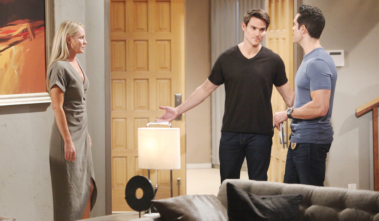 "yr rey adam hw Mark Grossman, Sharon Case, Jordi Vilasuso""The Young and the Restless"" Set CBS television CityLos Angeles07/2/19© Howard Wise/jpistudios.com310-657-9661Episode # 11745U.S. Airdate 08/07/19"