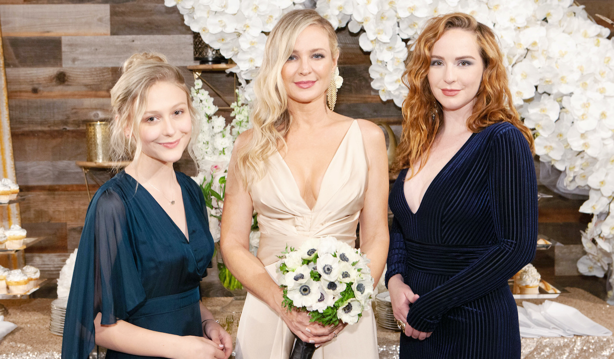 """Sharon Case, Alyvia Alyn Lind, Camryn Grimes """"The Young and the Restless"""" Set Wedding CBS television City Los Angeles 11/25/20 © Howard Wise/jpistudios.com 310-657-9661"""