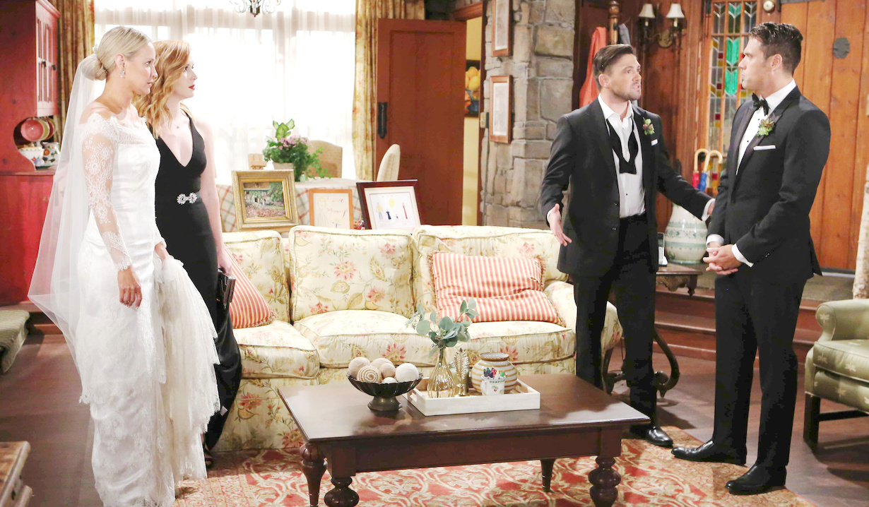 "yr nick sharon wedding noah mariah Sharon Case, Joshua Morrow, Camryn Grimes, Robert Adamson, Alyvia Alyn Lind""The Young and the Restless"" Set CBS television CityLos Angeles08/29/18© Howard Wise/jpistudios.com310-657-9661Episode # 11532U.S. Airdate 10/04/18"