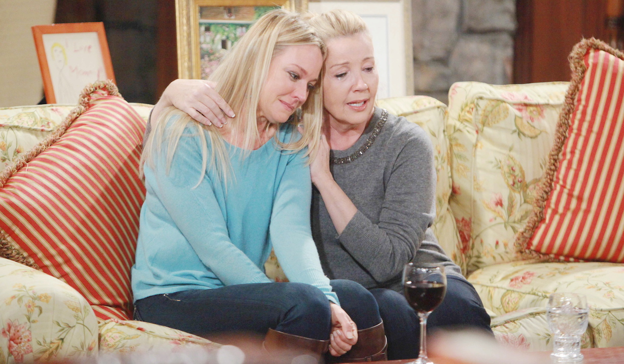 "Sharon Case, Melody Thomas Scott ""The Young and the Restless"" nikki sharon crying hw"