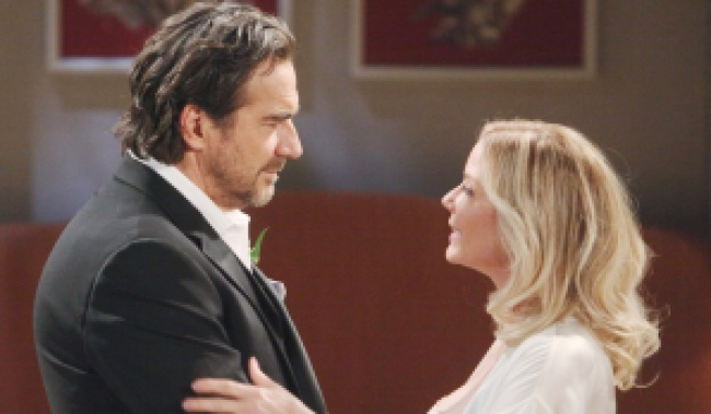 "Katherine Kelly Lang, Thorsten Kaye ""The Bold and the Beautiful"" Set CBS Television City Los Angeles, Ca. 02/05/20 © Howard Wise/jpistudios.com 310-657-9661 Episode # 8294 U.S.Airdate 03/17/20"