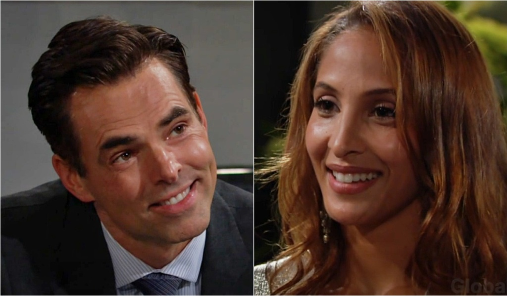 Billy, Lily smile each other Y&R