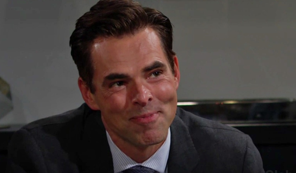 Billy smile Lily Y&R