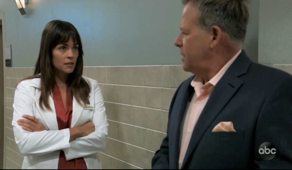 Britt asks Scott about his scheme with Ava at General Hospital