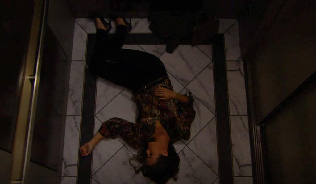 Chelsea elevator unconscious Y&R