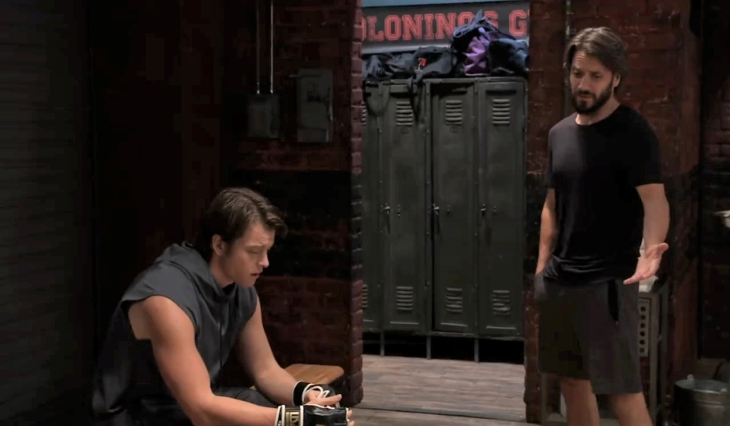 Dante questions Michael about Willow at the gym General Hospital