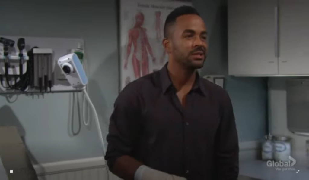 Nate tells Nick about cheating at clinic Young and the Restless