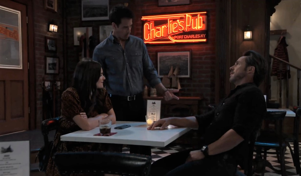 Nikolas interrupts Brook Lynn and Julian at Charlie's General Hospital