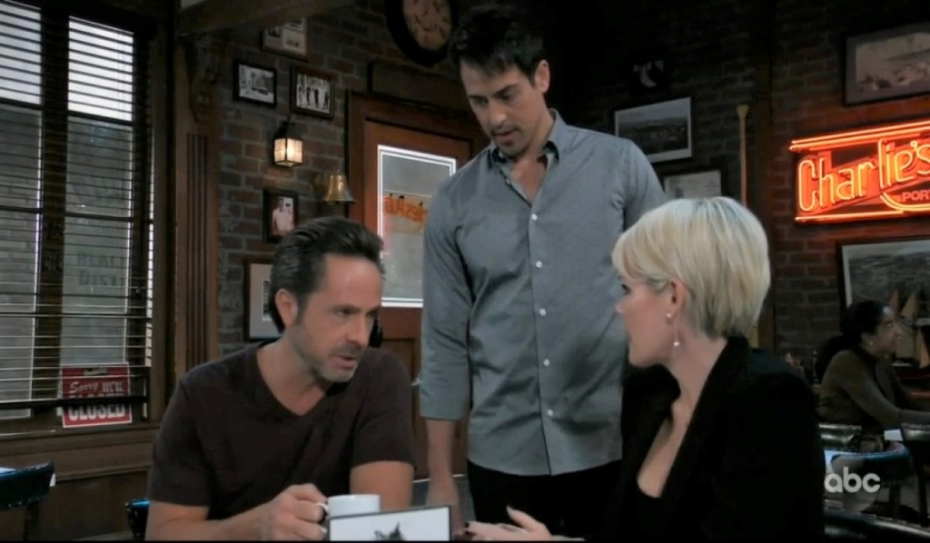 Nikolas interrupts Ava and Julian at Charlie's General Hospital